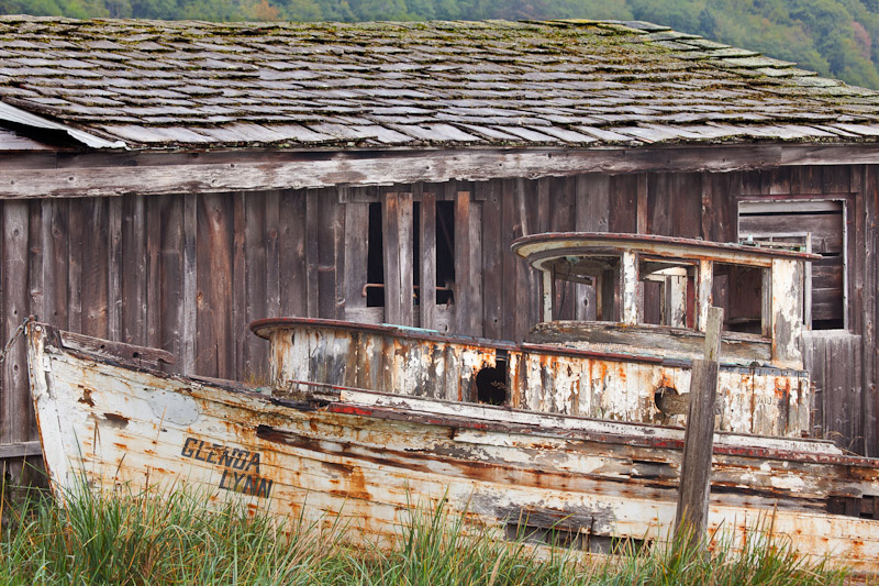 Canada; British Columbia; Alert Bay; old boat