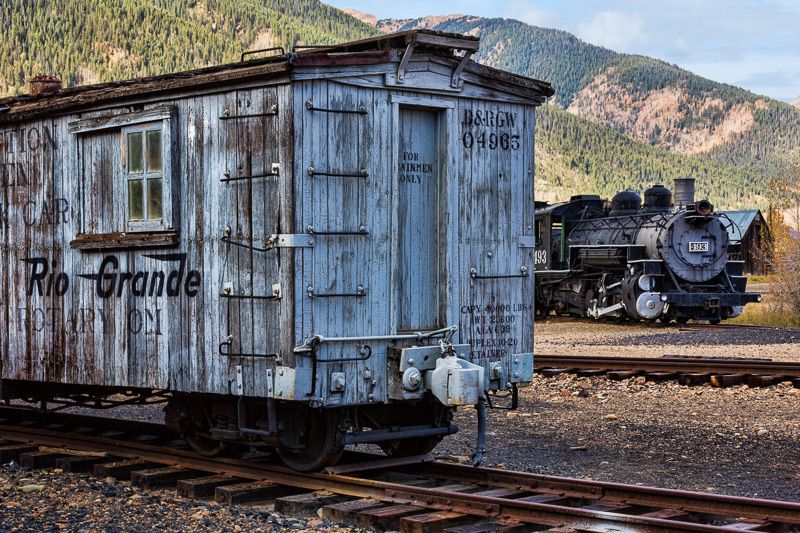 Historic train details, Silverton, Colorado