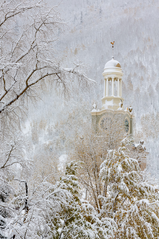 County Court House in a snow storm, Silverton, Colorado