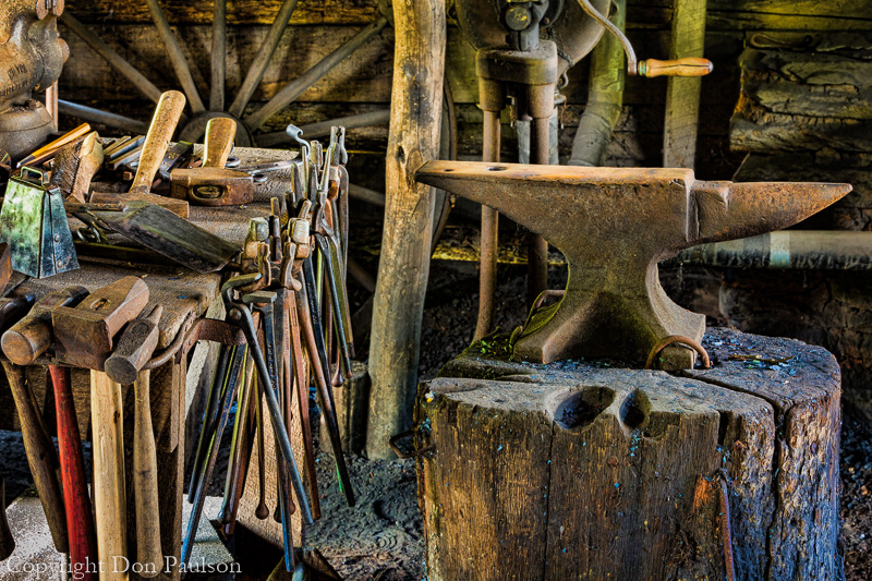 Blacksmith shop, Mabry Mill, Virginia