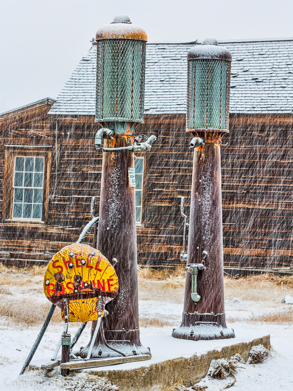 Gas pumps, Bodie, California