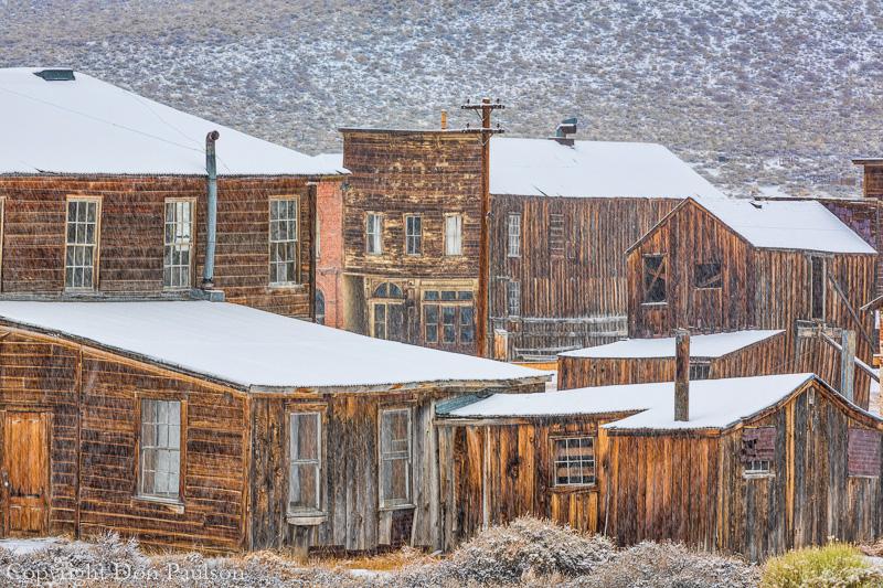Snowy Day in Bodie, California