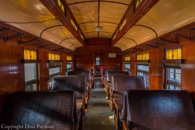 Inside a passenger car - Nevada Northern Railway National Historic Landmark, Ely, Nevada