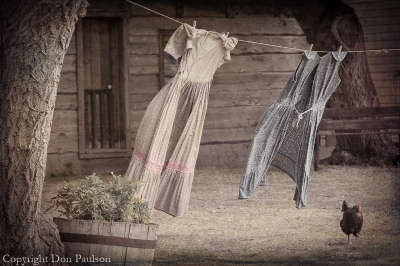 Cloths line - Canada, British Columbia, near Cache Creek, Historic Hat Creek Ranch
