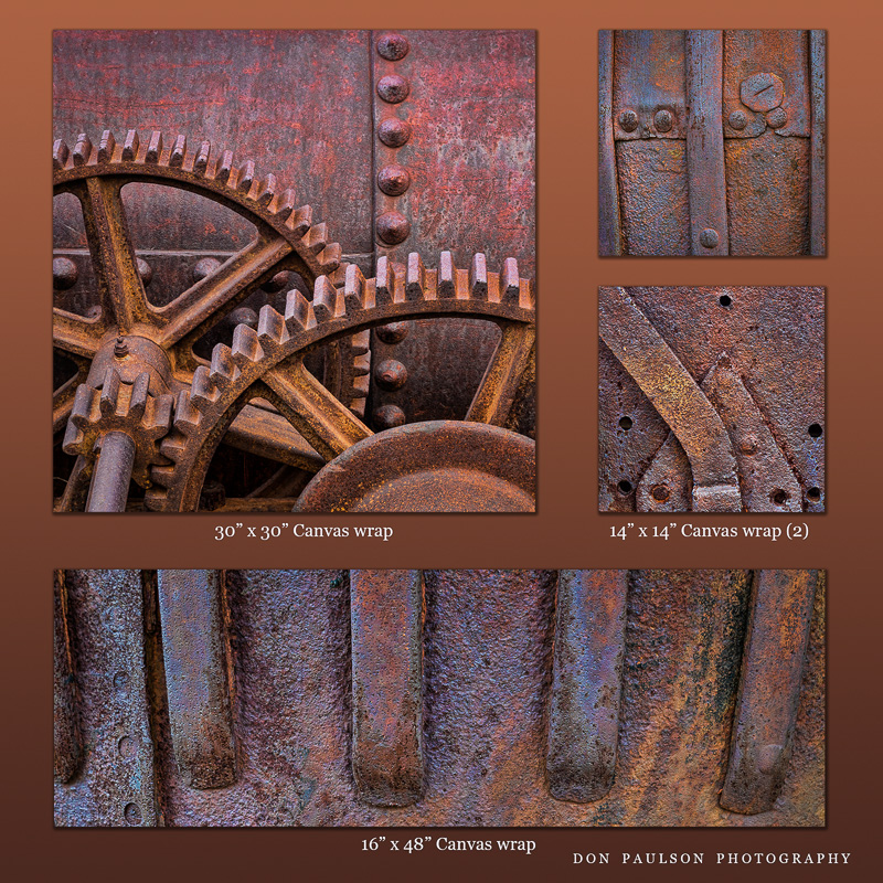 Grouping of antique mining equipment images (available individually)
