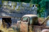 Old truck and out building, Peterson\'s Farm, Silverdale, Washington