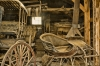 Antique sliegh and buggy in Virginia City, Montana