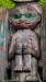Detail of a totem pole, Wrangell, Alaska