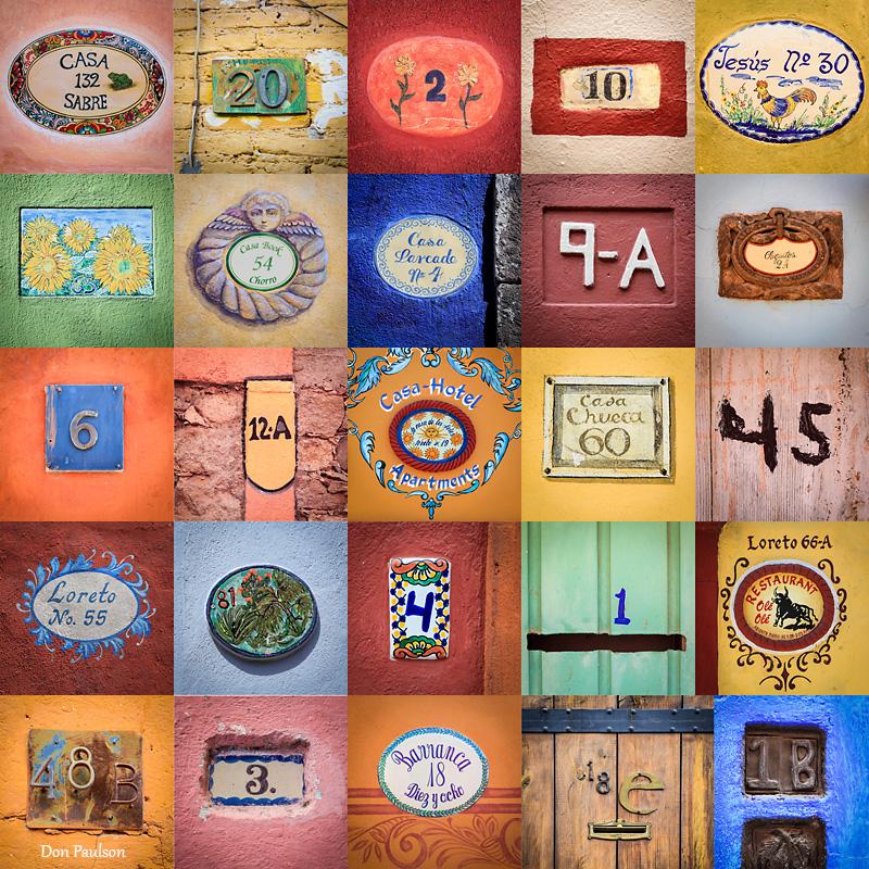 House Number Collage, San Miguel de Allende, Mexico