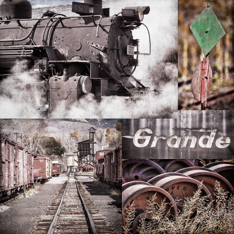 Collage of Historic Train Details #2