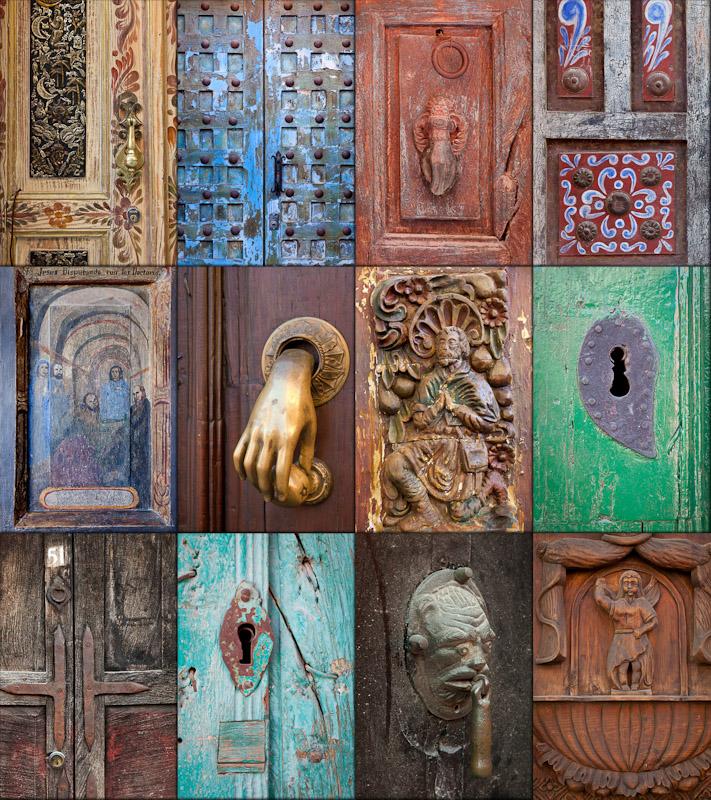Collage of San Miguel de Allende Door Details 2