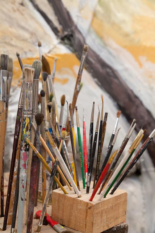 Artist's brushes, San Miguel de Allende, Guanajuato, Mexico