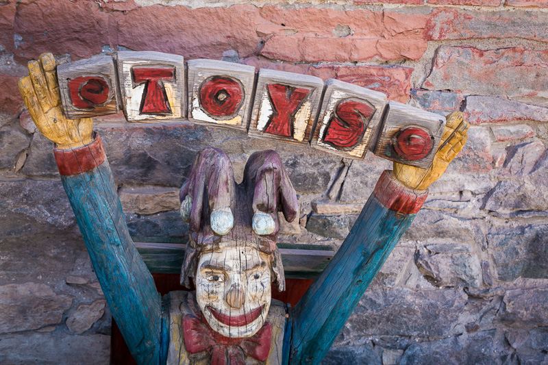 Antique clown, Ouray, Colorado