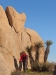 Kissing under a Heart-shaped rock, Joshua Tree National Park
