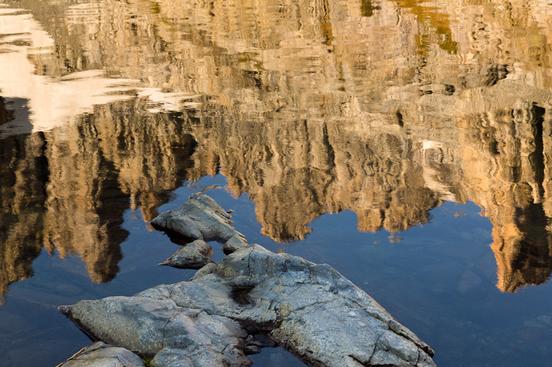 Reflection of the Minarets in Iceberg Lake, Ansel Adams Wilderness, Inyo National Forest, California