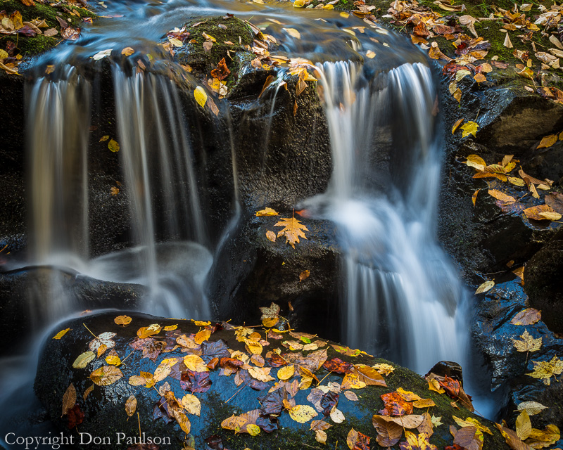 Detail of a small waterfall, Nantahala River, North Carolina