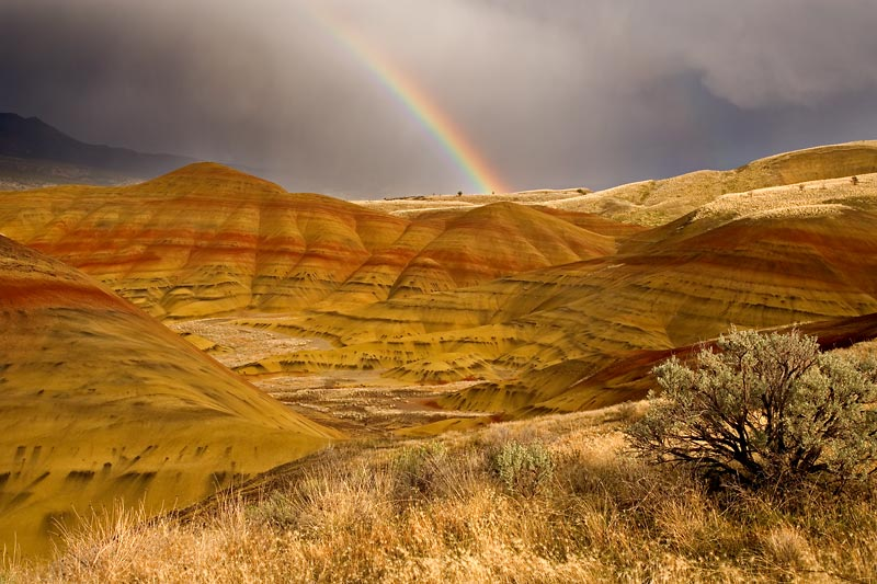 Rainbow, Painted Hills, Oregon