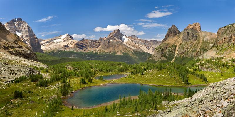 British Columbia; Yoho National Park; Opabin Highland, Hungabee Lake