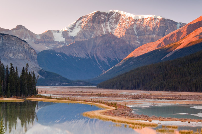 Canada; Alberta; Jasper National Park; Mount Kitchener; Sunwapta River