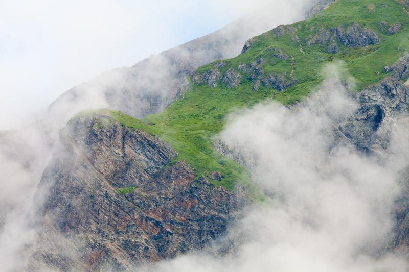 Cliff in fog, Glacier Bay Natonal Park