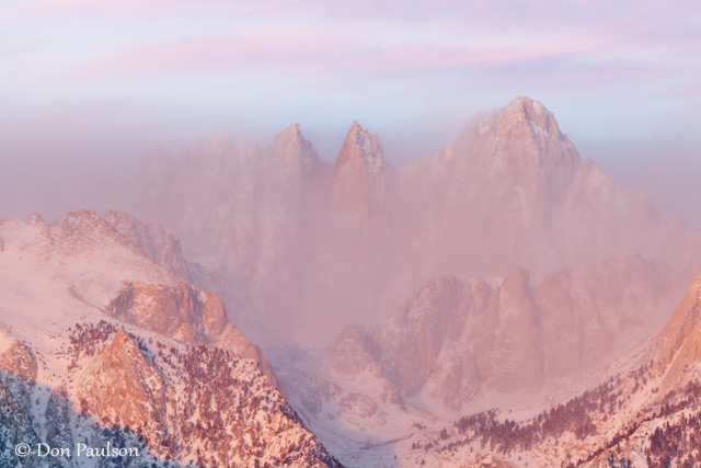 Sunrise, Mount Whiitney, from the Alabama Hills, near Lone Pine, California
