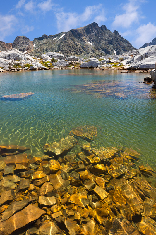 Small tarn Near Nydiver Lakes, Ansel Adams Wilderness, Inyo National Forest, California