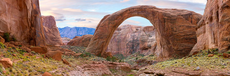 Rainbow Bridge, Lake Powell, Utah, Multiple Image, very high resolution Panorama