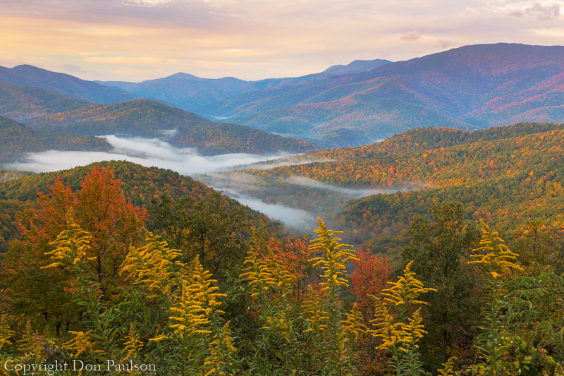 Fall Color, Black Mountains overlook, Blue Ridge Parkway, North Carolina