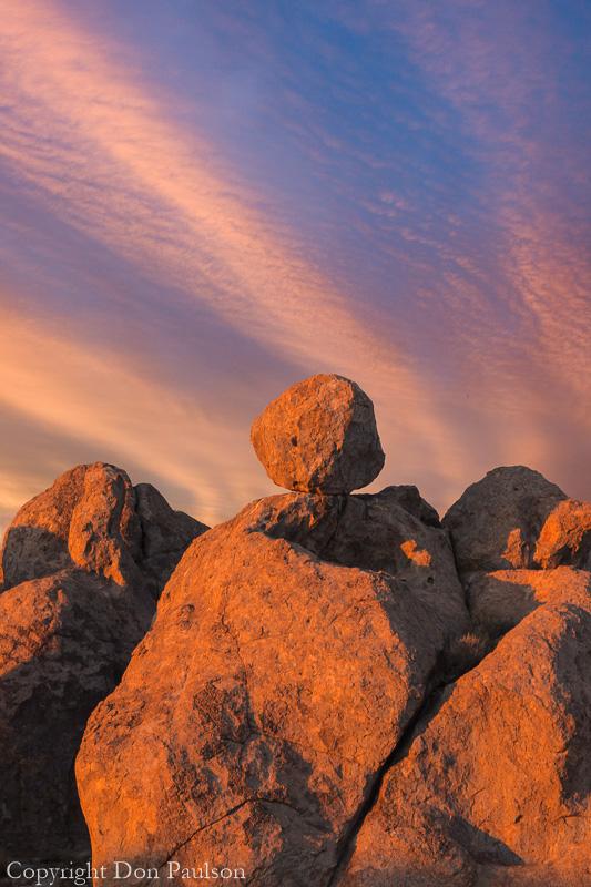 Glowing Rocks, City of Rocks, New Mexico