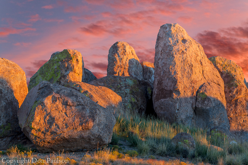 Sunset, City of Rocks State Park, New Mexico