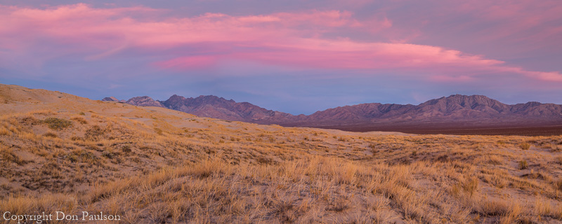 Kelso Dunes, Mohave National Preserve, California. High resolution, multi-image panorama. 40 inches x 16 inches @ 300dpi