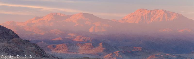 Trona Pinnacles, California. High Resolution, Multi-image Panorama. 12,802 pixels long.