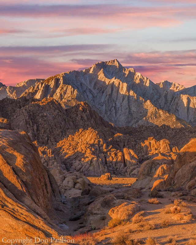Golden Sunrise, Alabama Hills, California