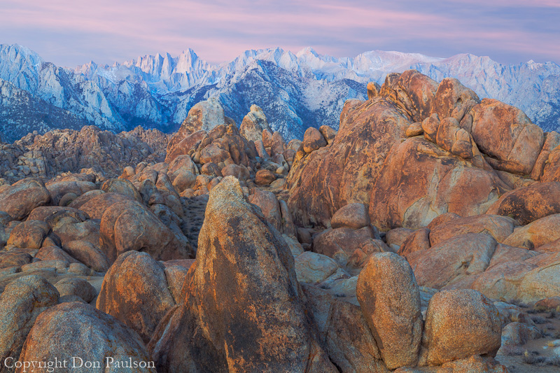 Sunrise, Alabama Hills, California