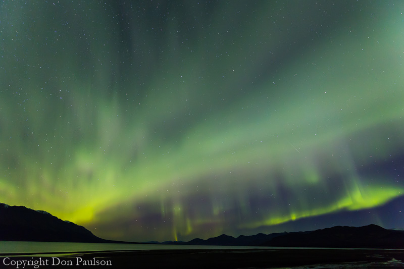 Aurora Borealus (Northern Lights) - Canada, Yukon Territory, Kluane Lake