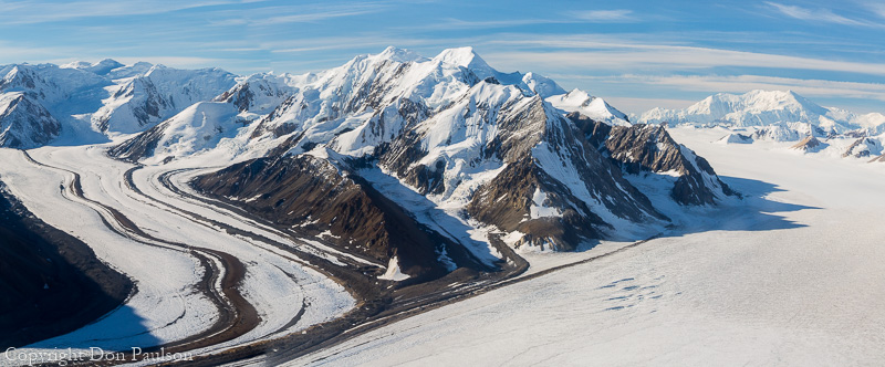 Canada, Yukon Territory, Kluane National Park, St. Elias Mountains and Kaskawulsh Glacier. High resolution panorama