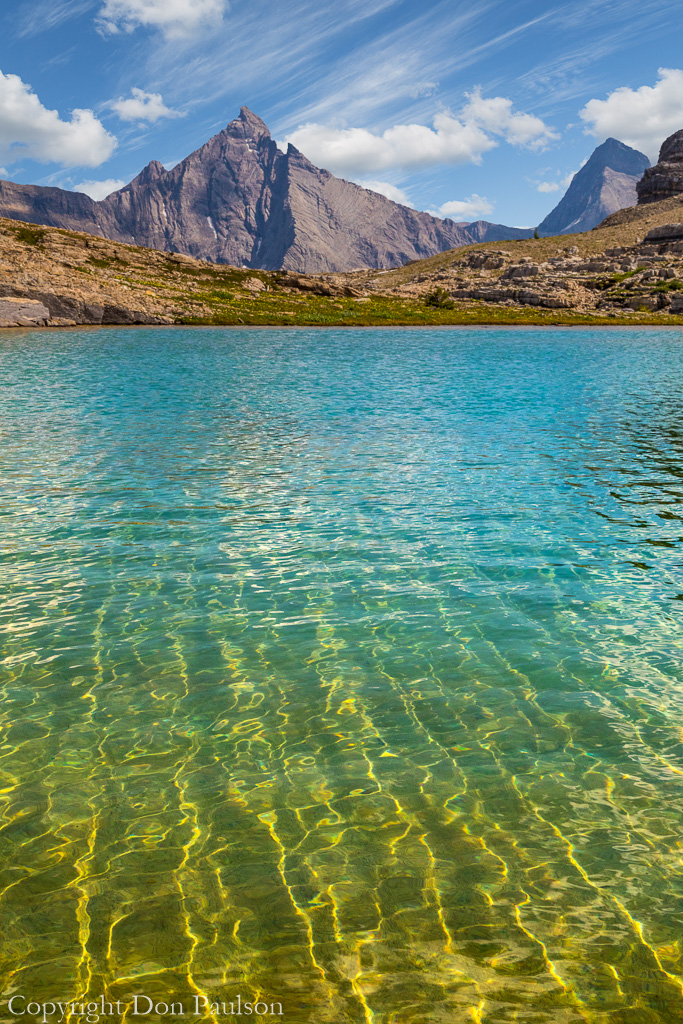 Yellow Lake and Mount Leval - Canada, British Columbia, Rocky Mountains, East Kootenay Mountains