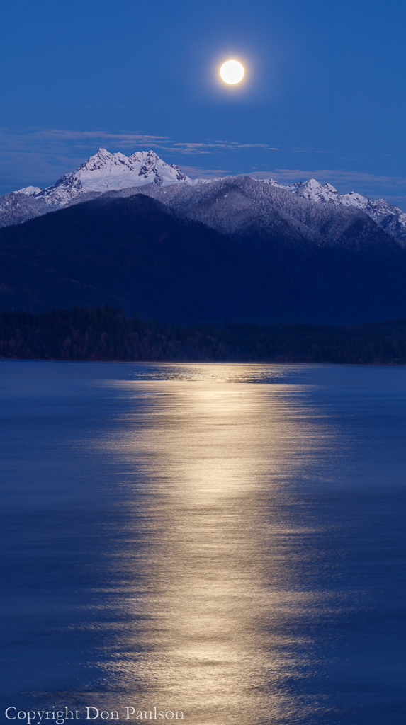 Moon over Olympic Mountains #2866