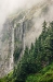 Washington; North Cascades National Park; Cascade Pass; waterfall; fog