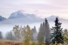  Canada; British Columbia; Mount Robson Provincial Park - foggy sunrise