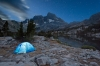 Tent at night, Garnet Lake, Ansel Adams Wilderness, Inyo National Forest