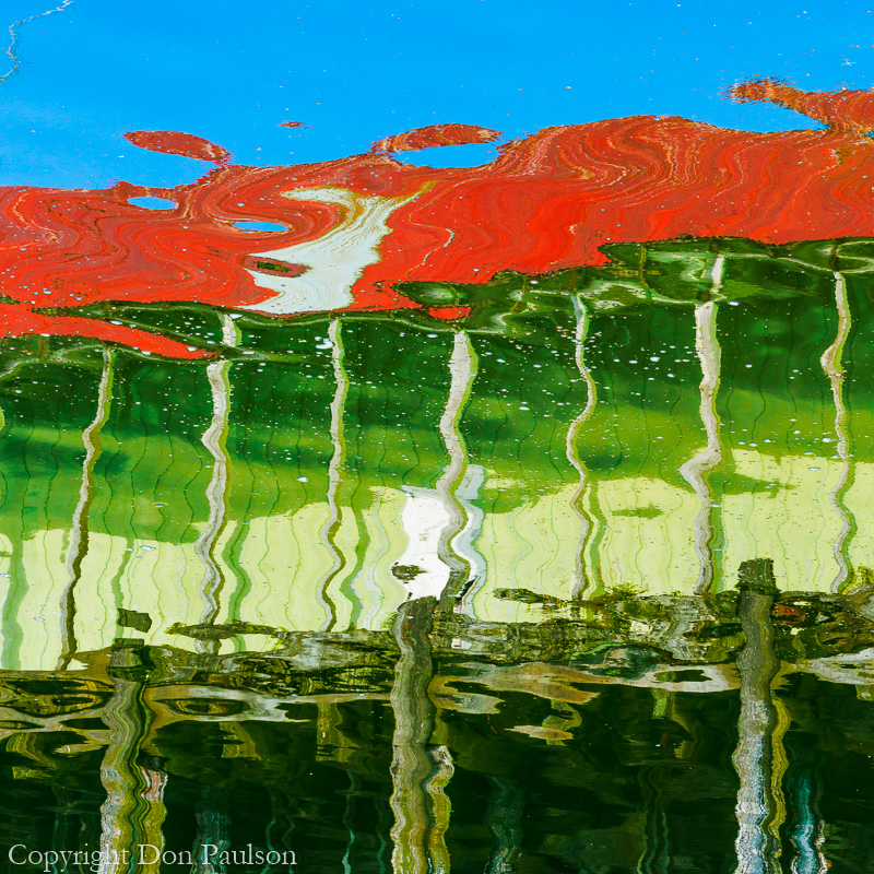 Reflection of the Cannery in Kake, Alaska - Square Format