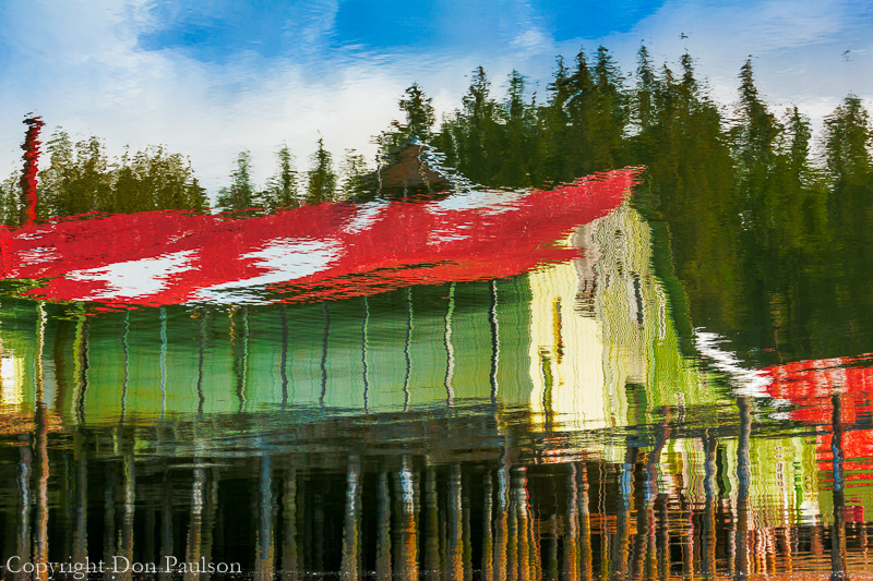 Cannery Reflection, Kake, Alaska
