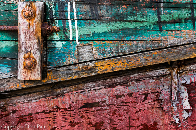 Detail of an abandoned boat
