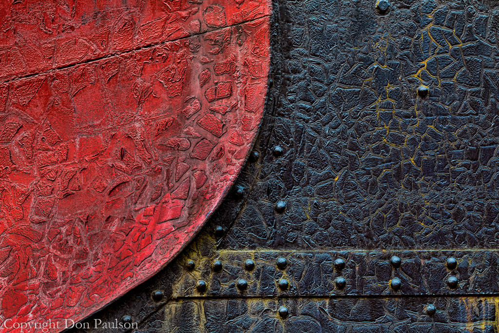 Detail of a railroad snow plow - Revelstoke Railway Museum - Canada, British Columbia, Revelstoke