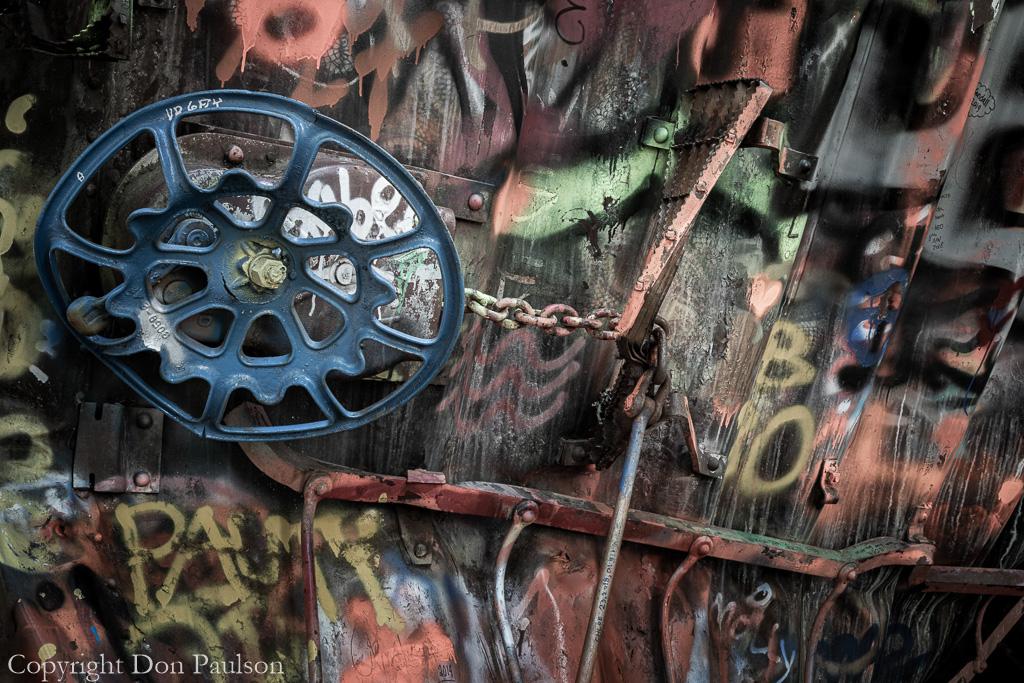 Wrecked Railroad Boxcar #8753B