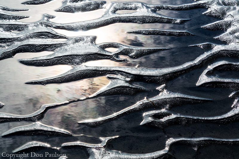 Beach patterns, Alaska, Kenai Peninsula, Anchor Point