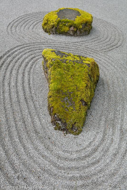 Raked sand, Japanese Garden - Washington, Bainbridge Island, Bloedel Reserve