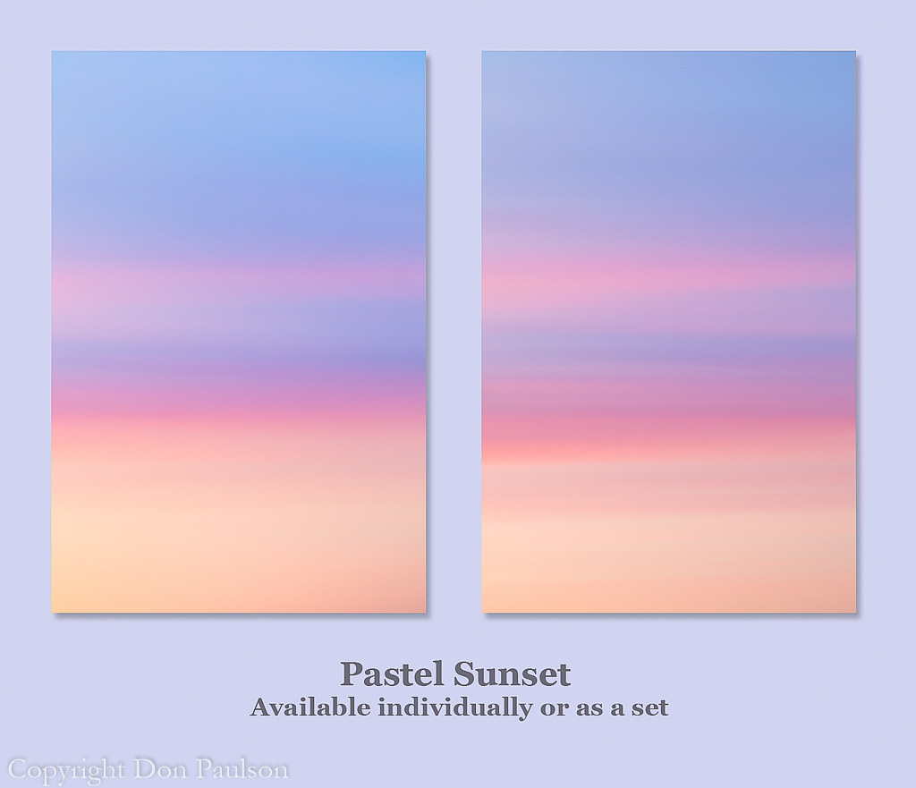 Pastel Sunset (matching pair)