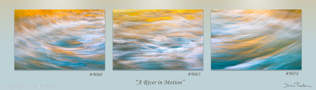 A River in Motion Triptych